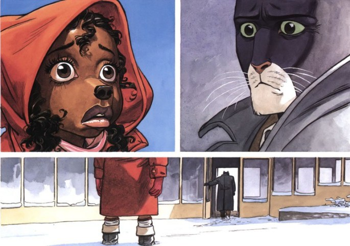 blacksad Somewhere Within the Shadows Arctic Nation Red Soul furry furries noir detailing