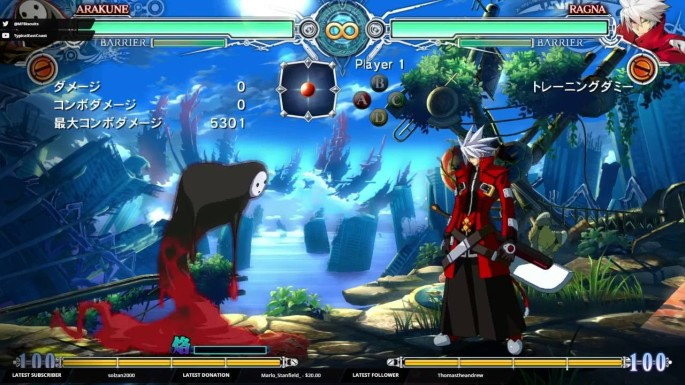 BlazBlue Central Fiction Cast Hazam Noel Vermillion Nine The Phantom Ragna Bloodedge Mai Natsume Naoto Kurogane Character Select Screen Arakune