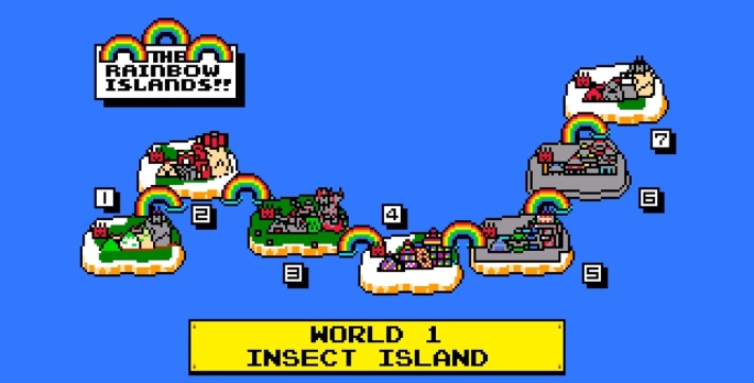 rainbow islands bubble bobble two 2 taito island