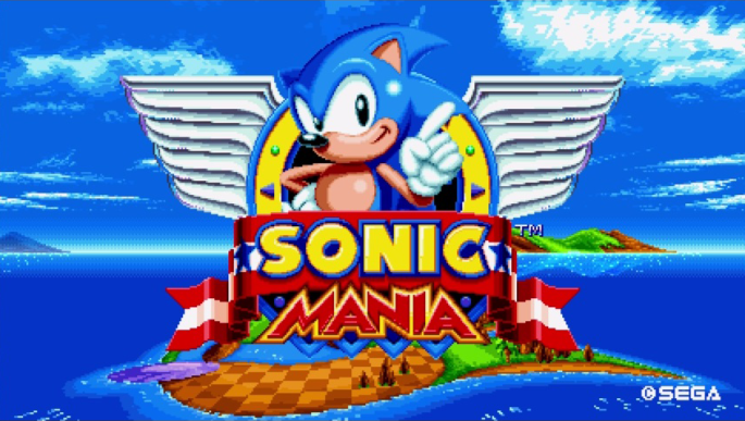 sonic mania retro classic 2D the hedgehog title screen