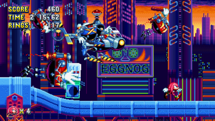 sonic mania retro classic 2D the hedgehog knuckles hard boiled heavies
