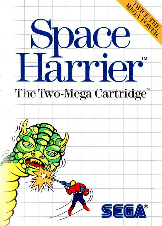 space harrier sega master system box art