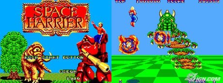 space harrier sega master system Title Screen gameplay screenshot