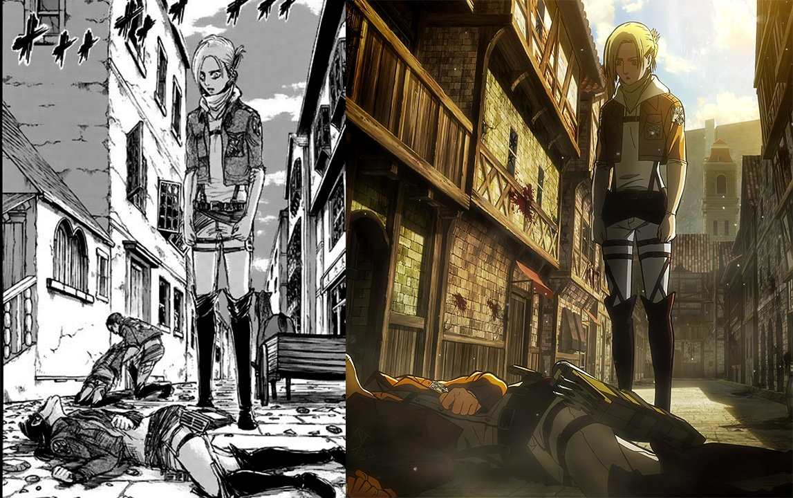 Annie Corpse Attack on Titan shingeki no kyojin leonhart female titan