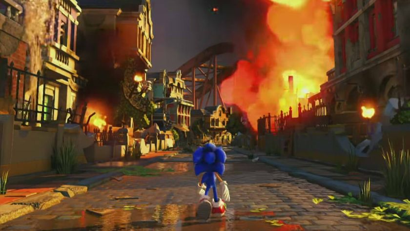 sonic forces artwork modern sonic
