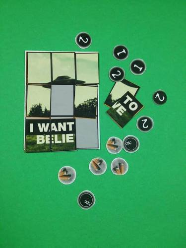 X Files X-Files The board game IDW pieces card cards poster