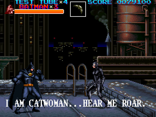 batman returns snes konami penguin catwoman boss