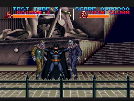 batman returns snes konami penguin catwoman clowns