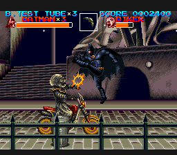 batman returns snes konami penguin catwoman clowns bike
