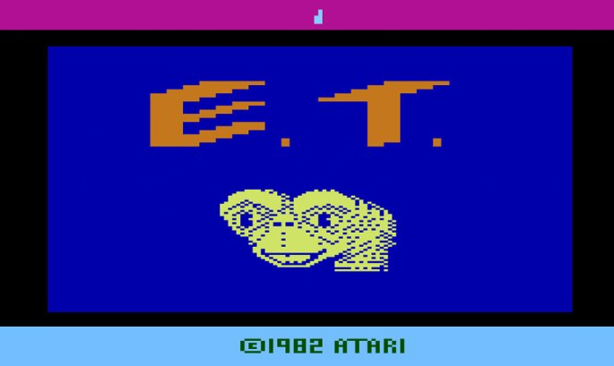 ET the extra terretrial atari 2600 title screen