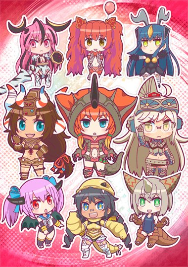 kaiju girls 1 moe chibi anthropomorphism cast shot