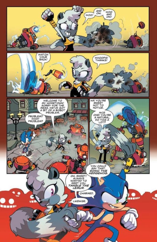 Sonic the hedgehog IDW publishing issue 3 ian flynn blaze the cat tangle the lemur page
