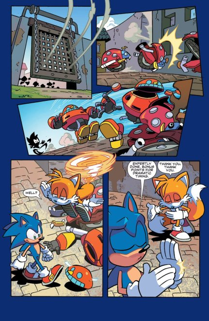 Sonic the hedgehog IDW publishing issue 1 ian flynn tails page