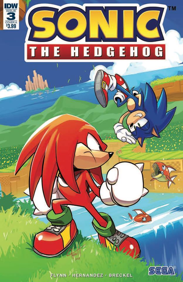 Sonic the hedgehog IDW publishing issue 3 ian flynn knuckles the echidna jennifer hernandez