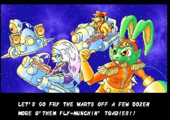 captain bucky o'hare ohare o hare blinky the robot deadeye duck jenny the aldebaran cat first mate cut scene