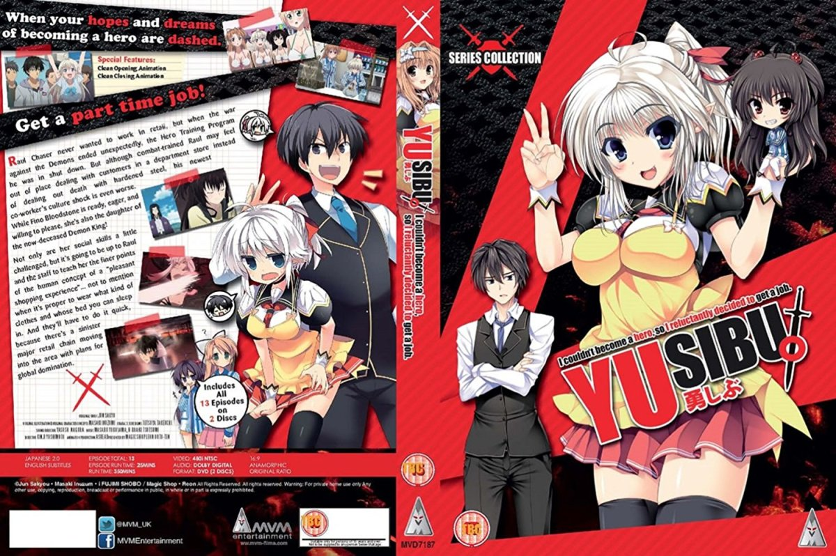 YUSIBU: I Couldn't Become A Hero, So I Reluctantly Decided To Get A Job [Anime Review - Harem / Comedy / Ecchi]