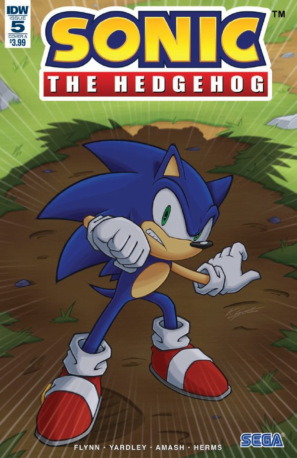 Sonic the hedgehog IDW publishing issue 5 ian flynn eggman cover
