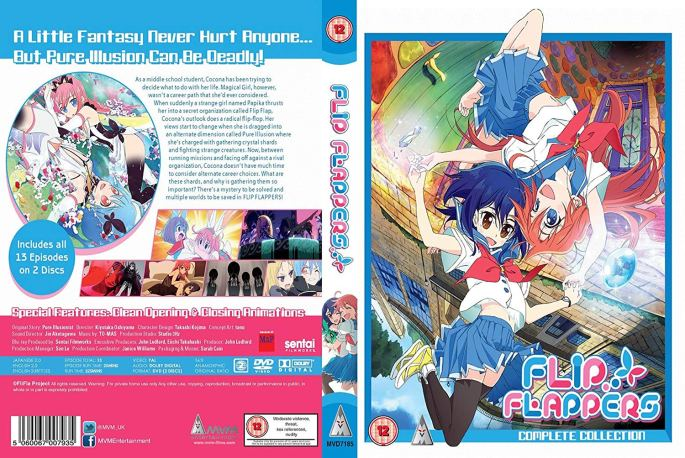 Flip Flappers anime magical girl yuri papika cocona fantasy