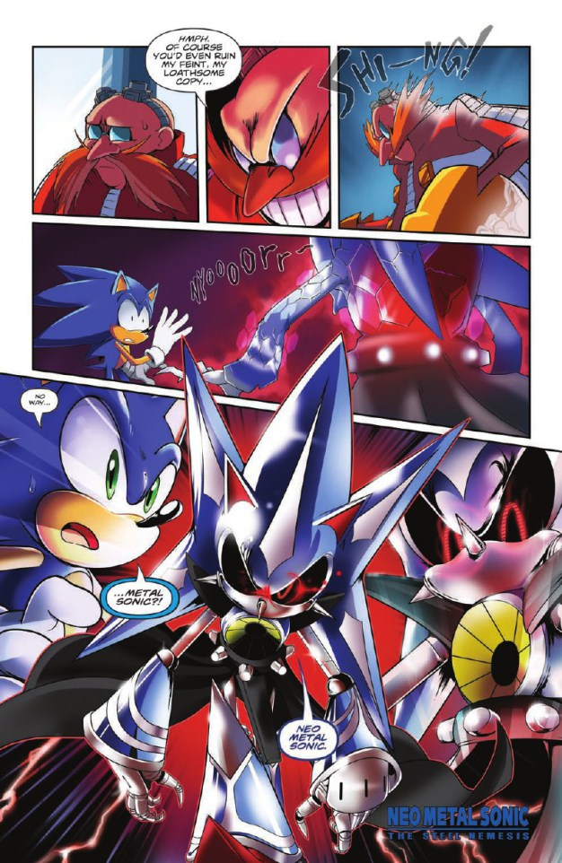 Sonic the Hedgehog IDW issue 7 cover B Adam Bryce Thomas Ian Flynn Tornado Tails Eggman Neo Metal Sonic