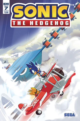 Sonic the Hedgehog IDW issue 7 cover B Adam Bryce Thomas Ian Flynn Tornado Tails