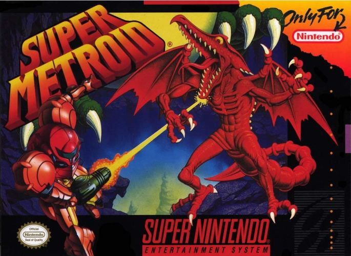 Super Metroid SNES Box Art