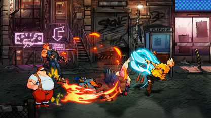 Streets of Rage 4 lizardcube dotemu guard crush scrolling beat em up game games fighting axel stone blaze fielding fighter gameplay screenshot thug mulitplayer co-op single player special move attack