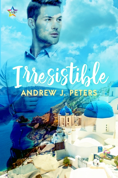 Irresistible Andrew J Peters LGBT LGBTQ gay MM humour comedy ninestar press book cover