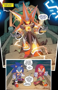 IDW Sonic Issue 10 Page Knuckles Neo Metal Super 1
