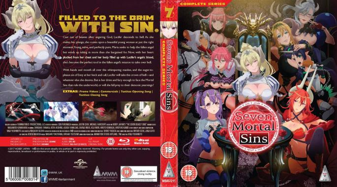 Seven Mortal Sins Complete Series Anime MVM Entertainment Blu-Ray Cover