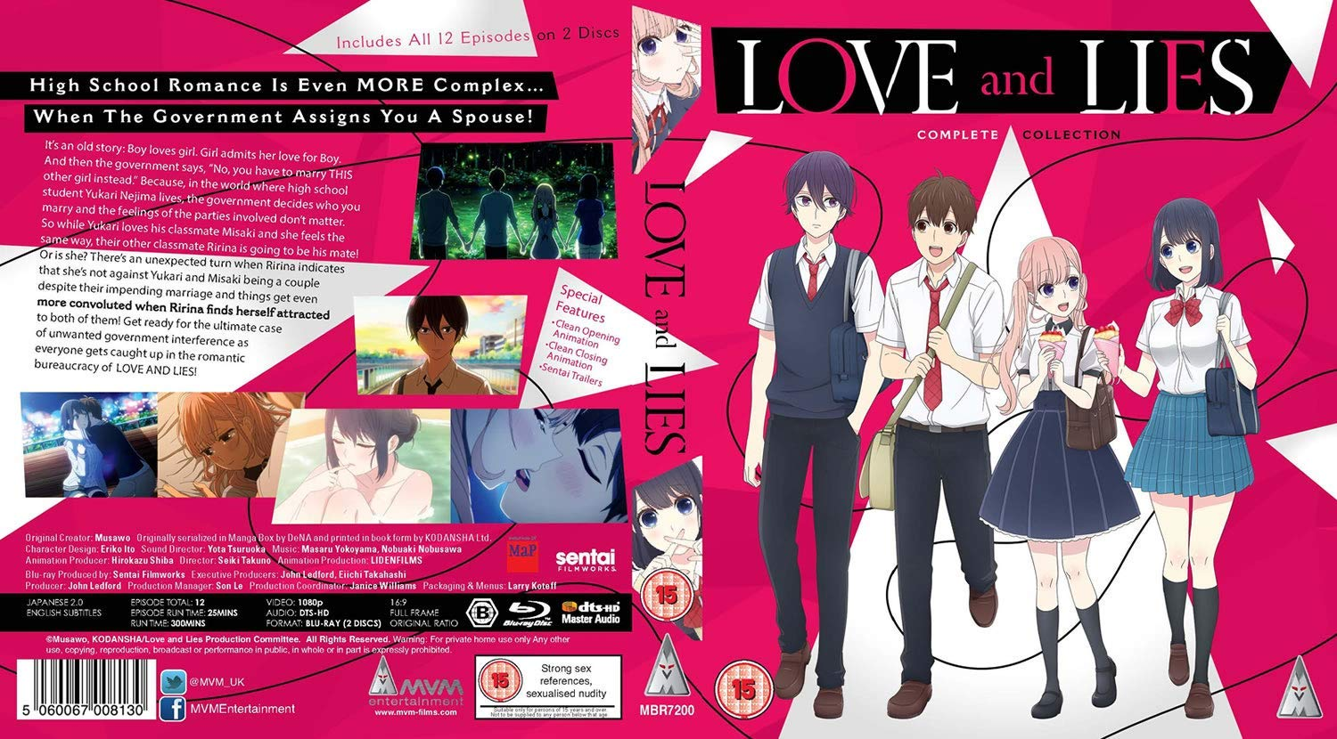 Love and Lies MVM Entertainment Blu Ray cover