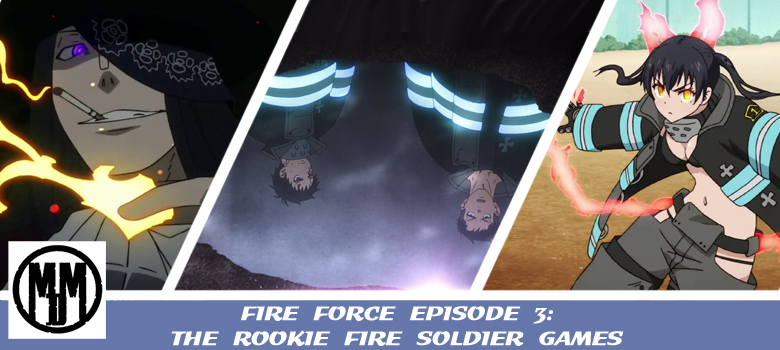fire force enen no shouboutai episode 3 the rookie fire soldier games header
