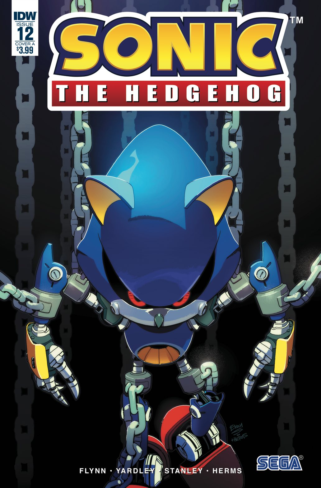 Sonic the Hedgehog IDW Publishing Issue 12 Metal
