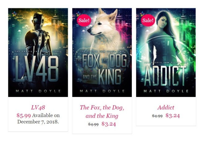 Addict THe Fox The Dog And The King LV48 The Cassie Tam Files Lesfic WLW Sci-Fi Mystery