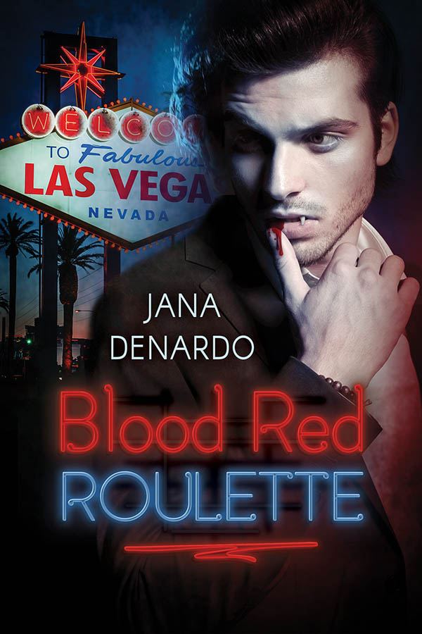 Blood Red Roulette Jana Denardo Book Cover Bi Bisexual MM Romance paranormal vampire