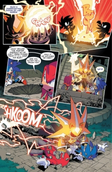 IDW Sonic Issue 10 Page Knuckles Neo Metal Super 2