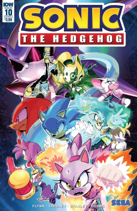 IDW Sonic the Hegehog Issue 10 Blaze Silver Shadow Tails Knuckles Amy Whisper Tangle Neo Metal Super Rouge