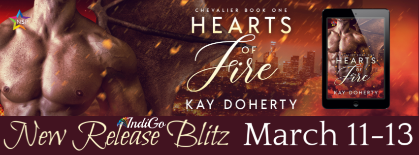 Hearts of Fire Kay Doherty Paranormal MM Romance Wolf Dragon Shifter