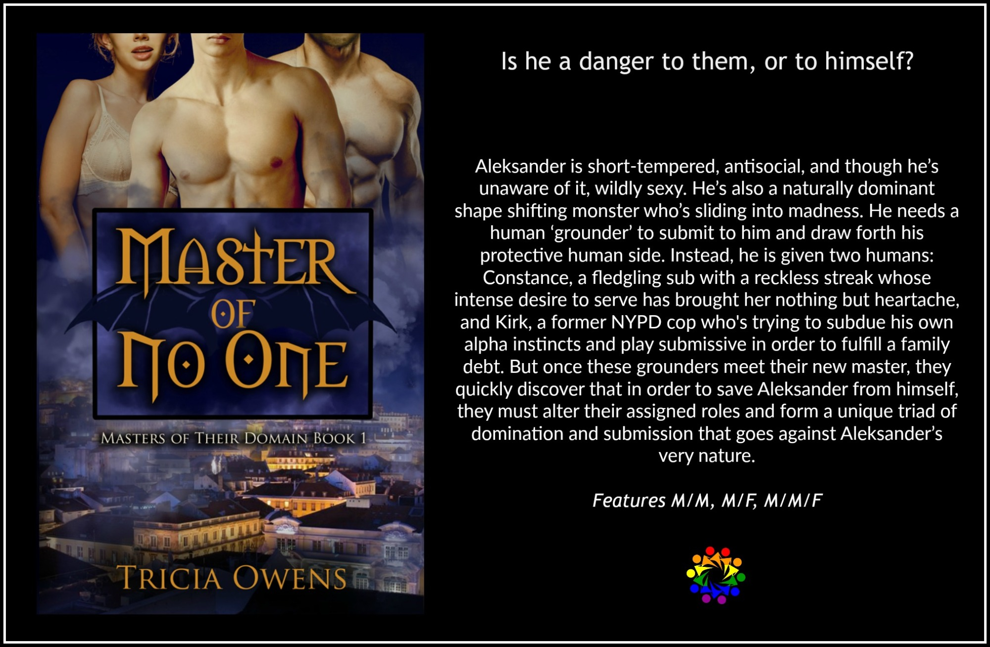MASTER OF NO ONE BLURB Tricia Owens MMF Paranormal Romance