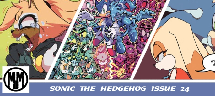 IDW Sonic The Hedgehog Issue 24 Comic Review Header Tangle The Lemur Whisper Wolf Cream Rabbit Sad Zombot Metal Virus