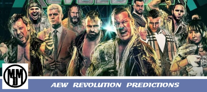 AEW Revolution Predictions Wrestling header