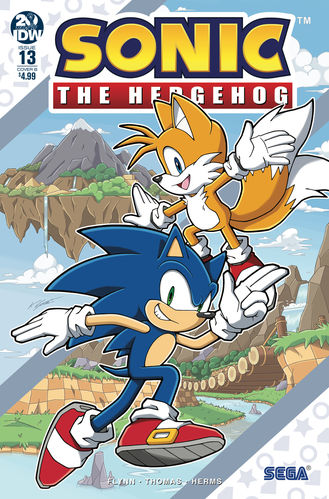 sonic the hedgehog idw issue 13 tails miles prower the fox rough and tumble the skunk