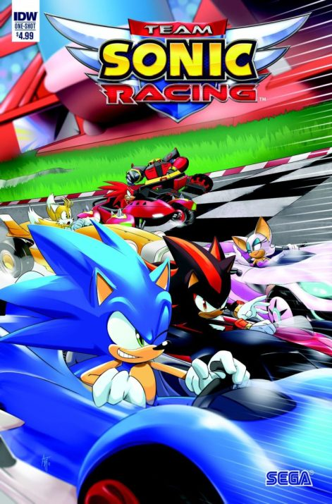 team sonic racing IDW publishing cover