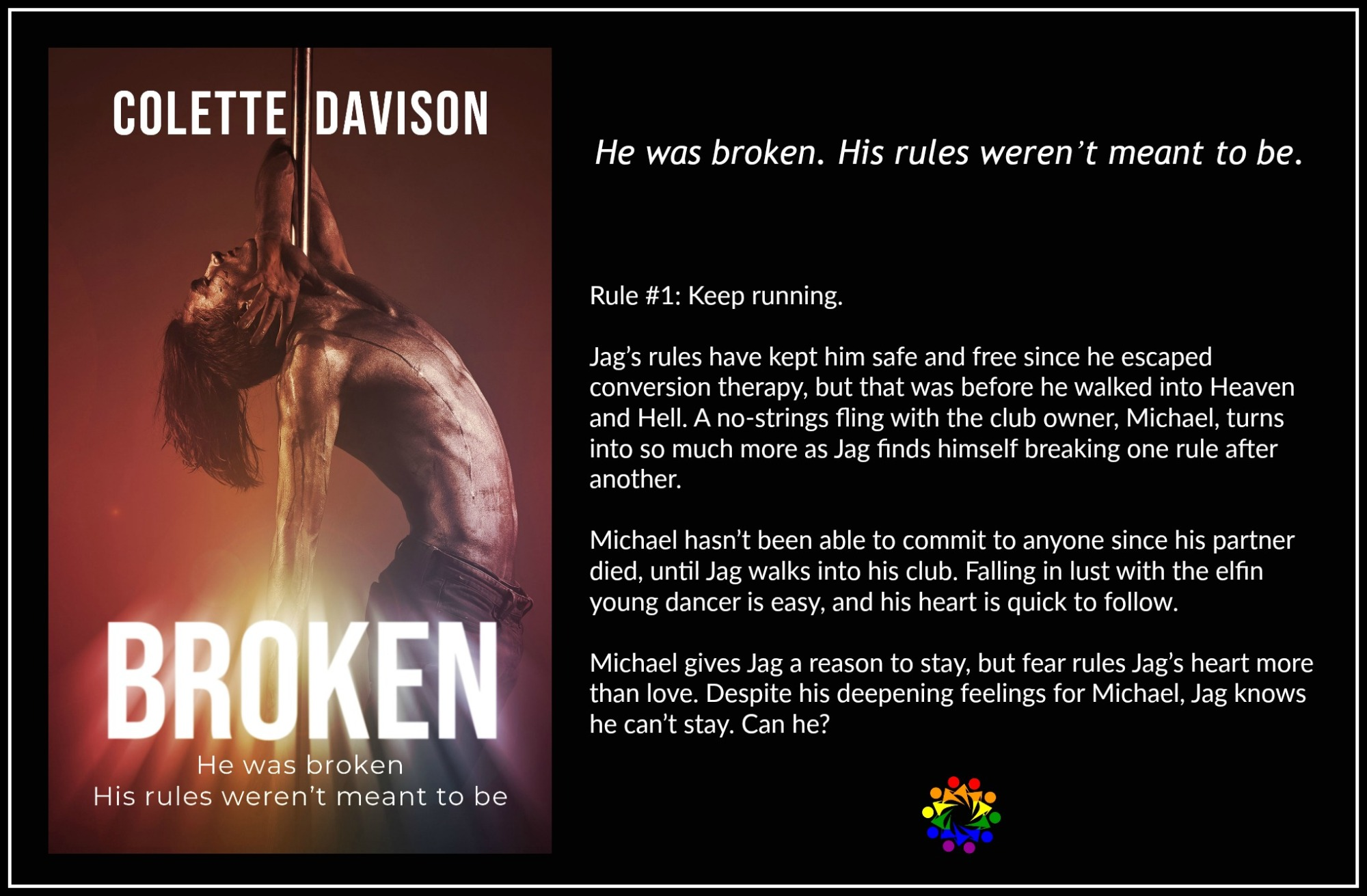 Broken Colette Davison Contemproary MM Romance Gay Book Tours