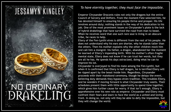 NO ORDINARY DRAKELING Jessamyn Kingley MM Romance Urban Fantasy