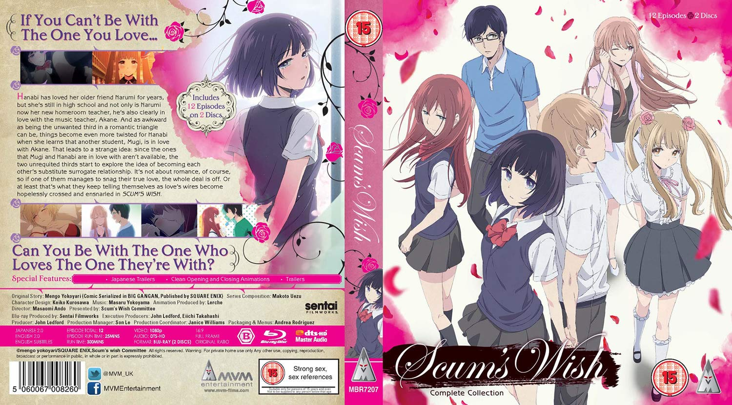 Scums Wish Complete Series Anime MVM Entertainment Blu-Ray Cover