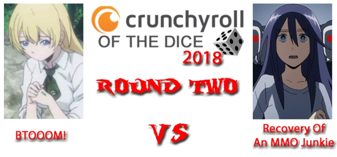 Crunchyroll of the Dice anime review 2018 Btooom vs recovery of an mmo junkie episode 2