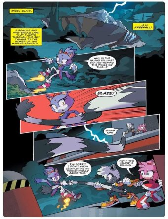 Sonic IDW 11 Page 1 Tangle Blaze Amy