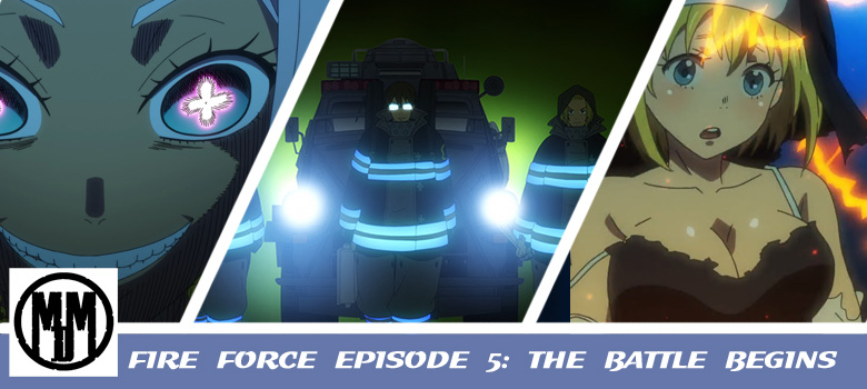 fire force enen no shouboutai episode 5 the battle begins funimation now header