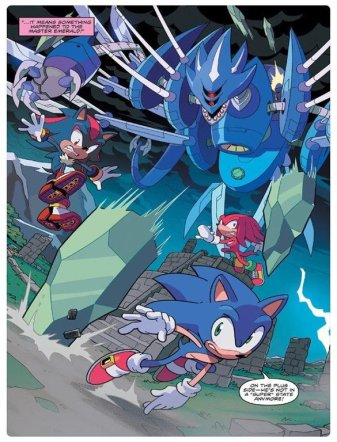 Sonic IDW 11 Page 2 Sonic Knuckles Shadow Neo Metal Sonic