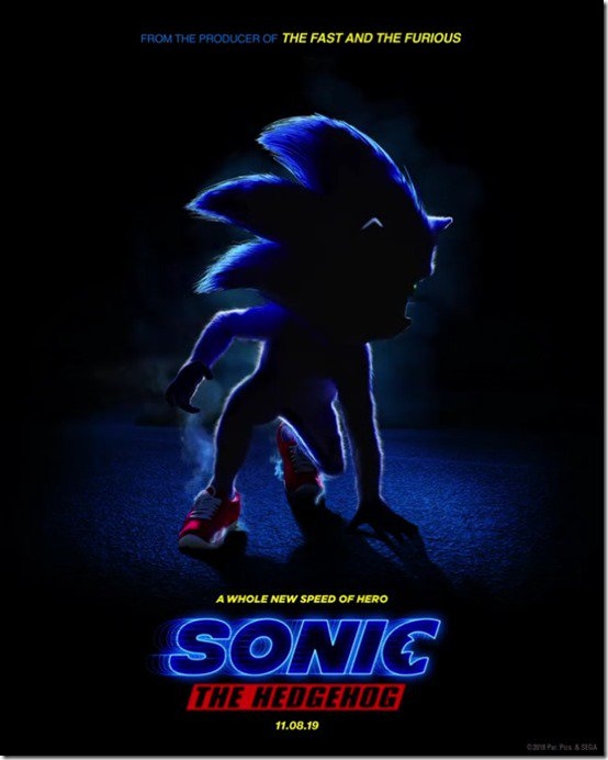 sonic the movie motion poster still